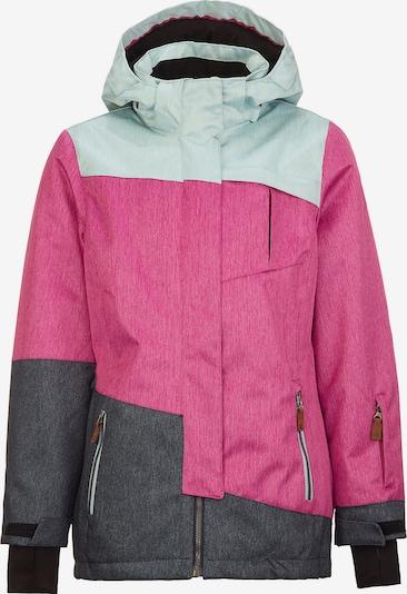 KILLTEC Skijacke 'Baha' in graumeliert / mint / pink, Produktansicht