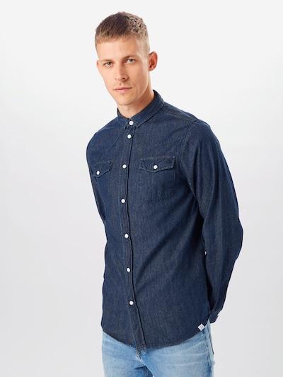 Hailys Men Hemd in dunkelblau: Frontalansicht