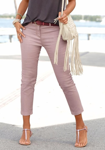 LASCANA Jeggings in mauve, Modelansicht