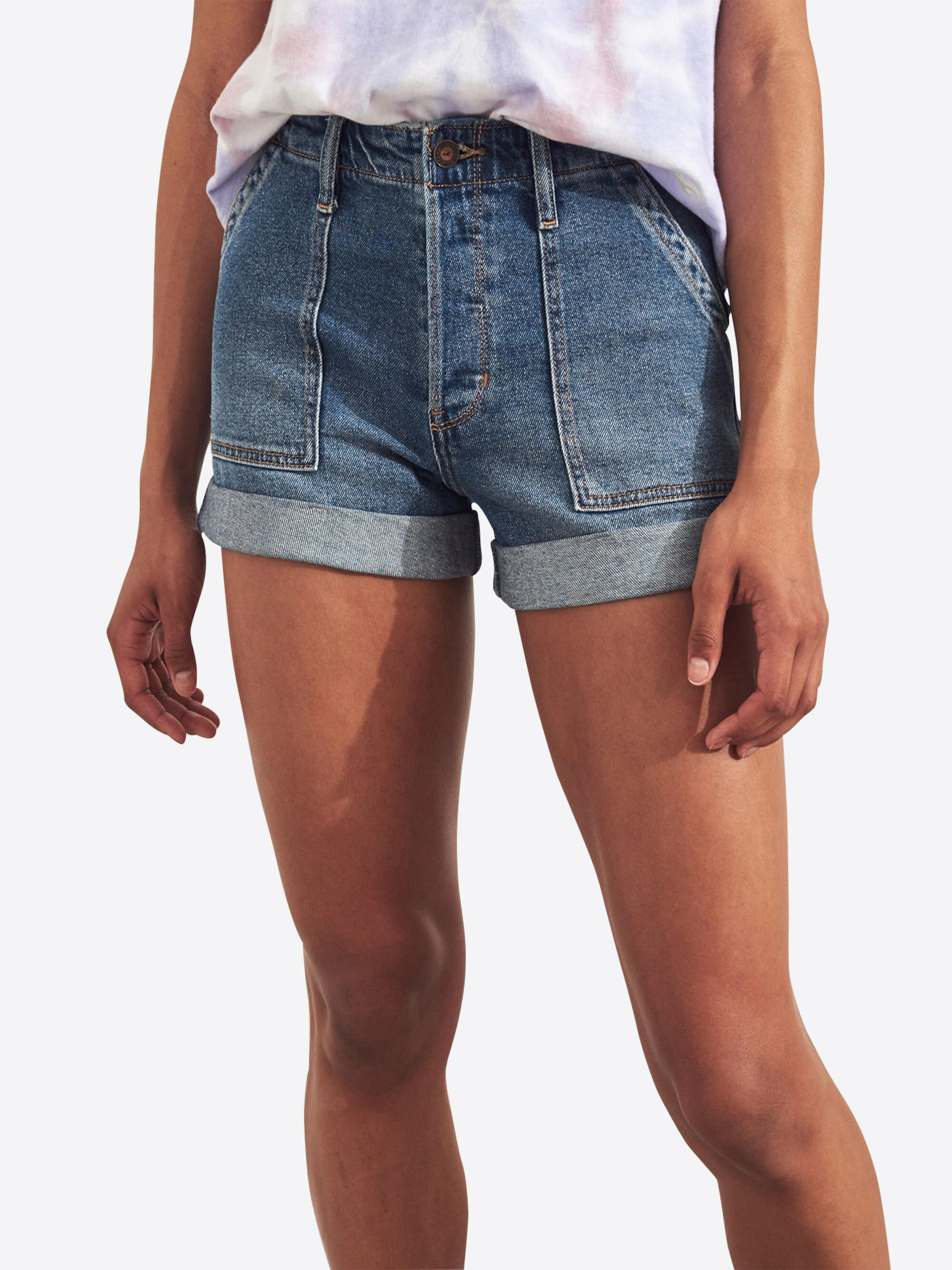 carpenter 's119 Hollister Jeans Hr Blue Short' In Pkt Denim Mom iXZPuOk