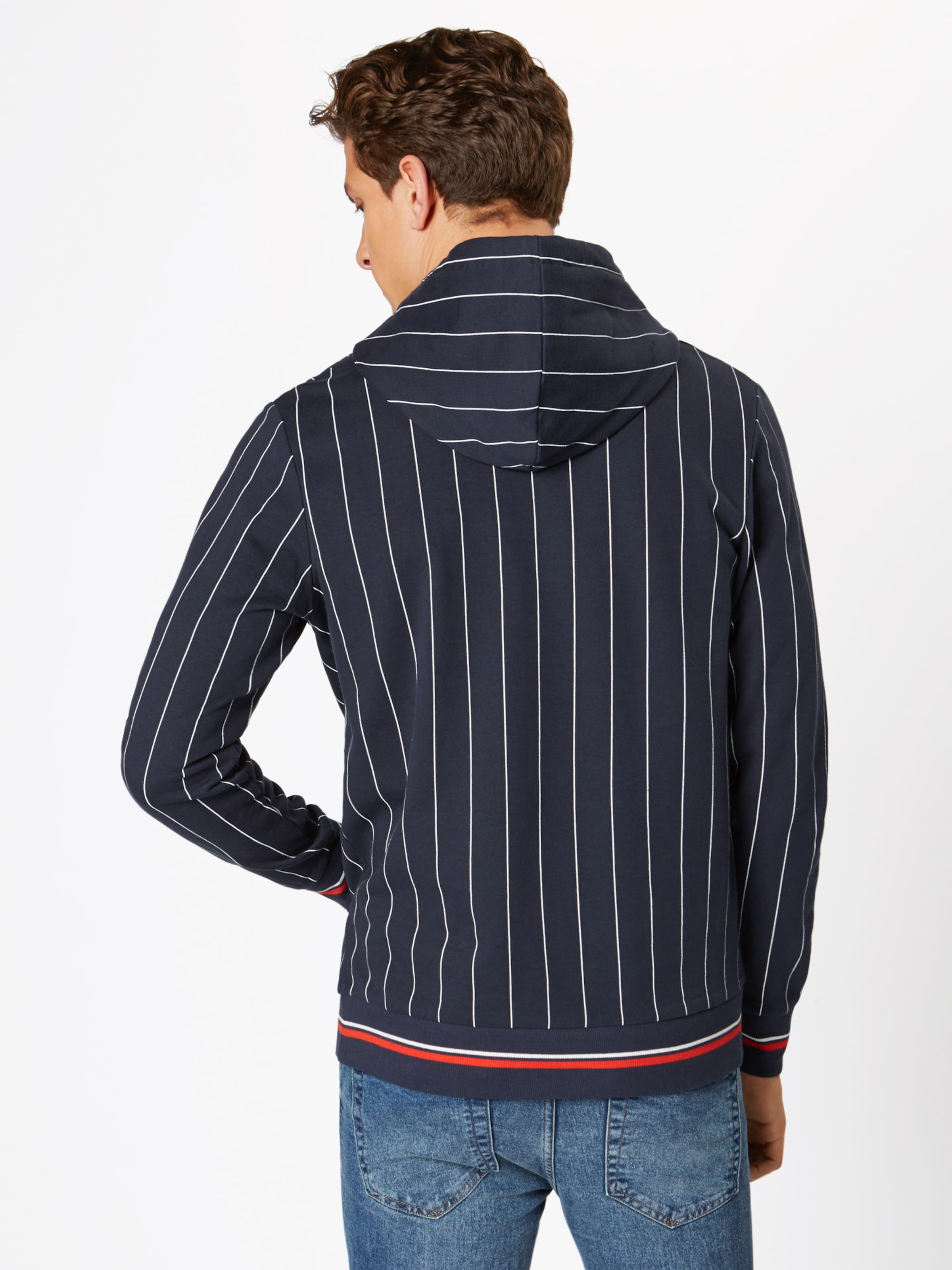 Jones 'pinstripe' Sweat Jackamp; En Bleu FoncéBlanc shirt XiuTPkZO