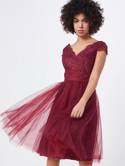 Chi Chi London Kleid 'CHI CHI JOEY DRESS' in burgunder, Modelansicht