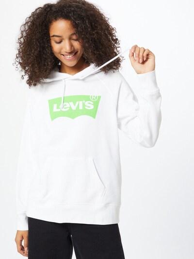 LEVI'S Sweatshirt in neongrün / weiß: Frontalansicht