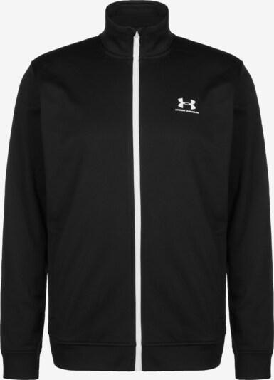 UNDER ARMOUR Sportjas in de kleur Zwart / Wit, Productweergave