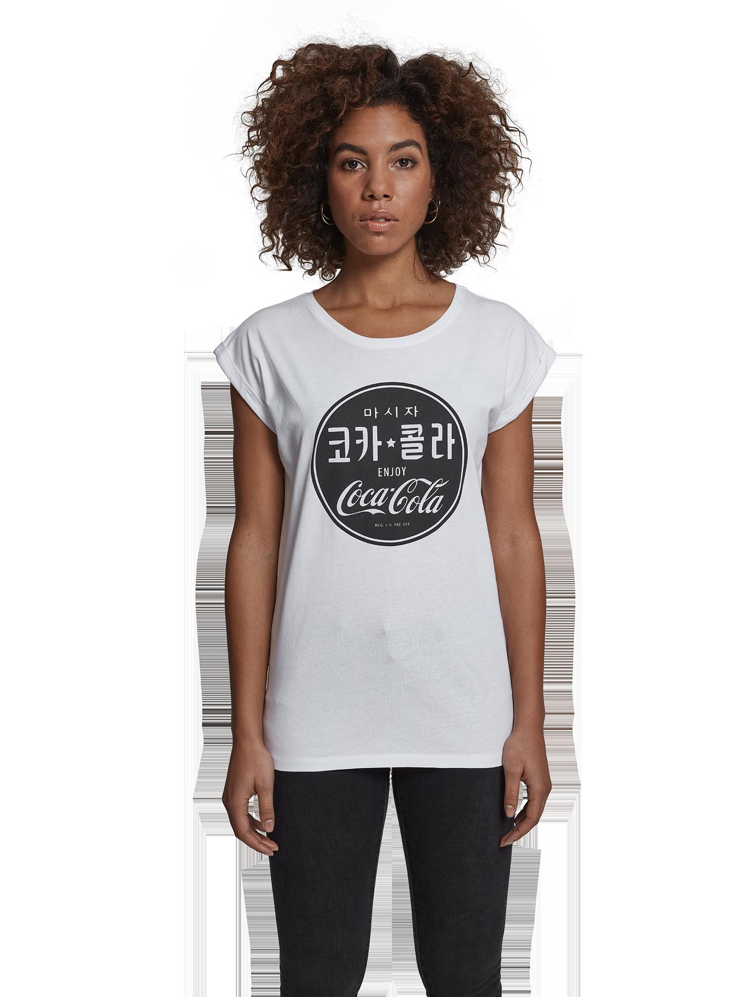 Merchcode Shirt 'Coca Cola Chinese' in Wit TzkBeTss