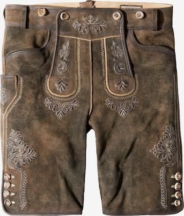 STOCKERPOINT Rahvuslikud püksid 'Beppo4', värv pruun