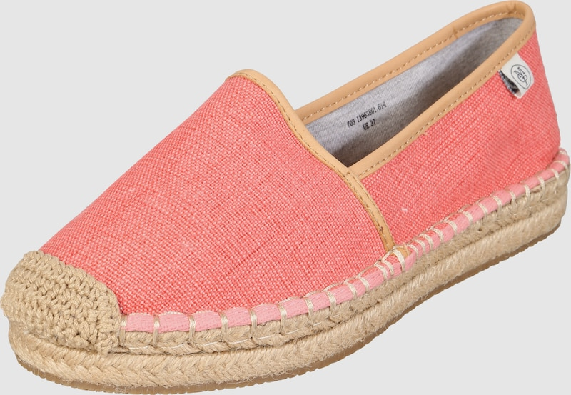 marc o 39 polo espadrilles mit lederdetails in pink about you. Black Bedroom Furniture Sets. Home Design Ideas