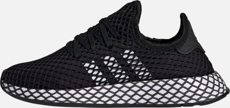 deerupt adidas schwarz weiß