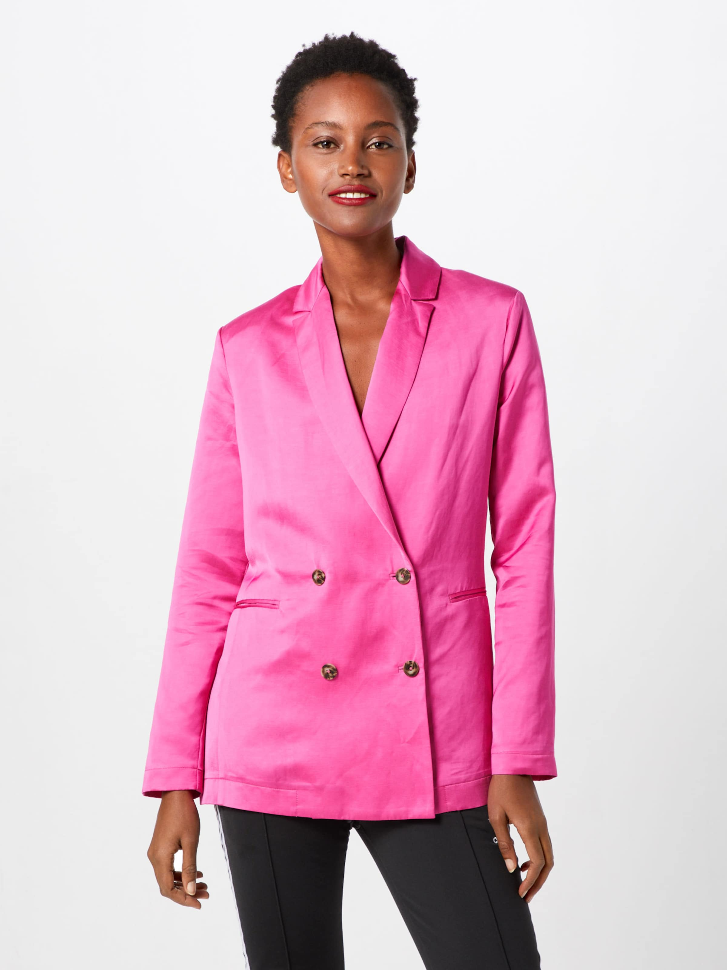 Soda Scotchamp; 'double Pink In Blend' linen Breasted Blazer Viscose rWBedxQCoE