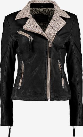 DNR Jackets Damen Lederjacke mit Strickelementen und Kontrastverarbeitung in schwarz, Produktansicht