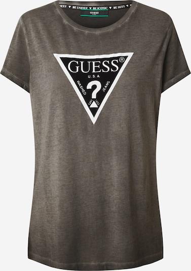 GUESS T-Shirt  'Lavinia' in dunkelgrau / schwarz / weiß, Produktansicht