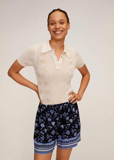 MANGO Shorts 'Chock' in blau / nachtblau / weiß, Modelansicht