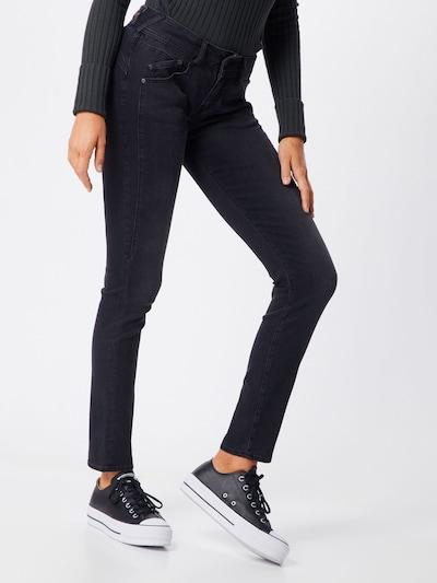 Herrlicher Jeansy 'Gila Slim Wool Denim Black' w kolorze czarnym: Widok z przodu