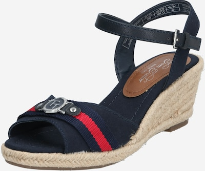 TOM TAILOR Sandalette in beige / navy, Produktansicht