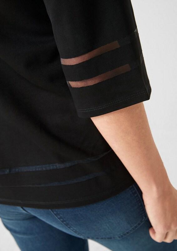 TRIANGLE Blausenshirt in in in schwarz  Großer Rabatt 6ac2b1