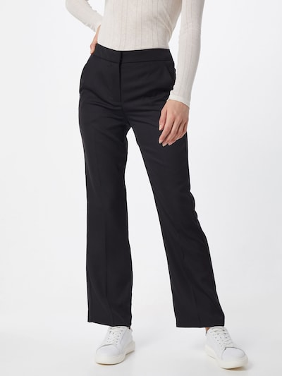 VERO MODA Bandplooibroek 'TASIA' in de kleur Zwart, Modelweergave