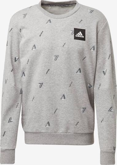ADIDAS PERFORMANCE Sportsweatshirt in de kleur Grijs gemêleerd / Zwart / Wit, Productweergave