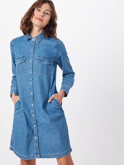 LEVI'S Kleid 'SELMA DRESS' in blue denim, Modelansicht