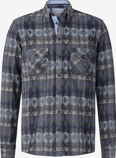 Shirtmaster Chemise 'Squaresandtees' en bleu marine / mélange de couleurs, Vue avec produit