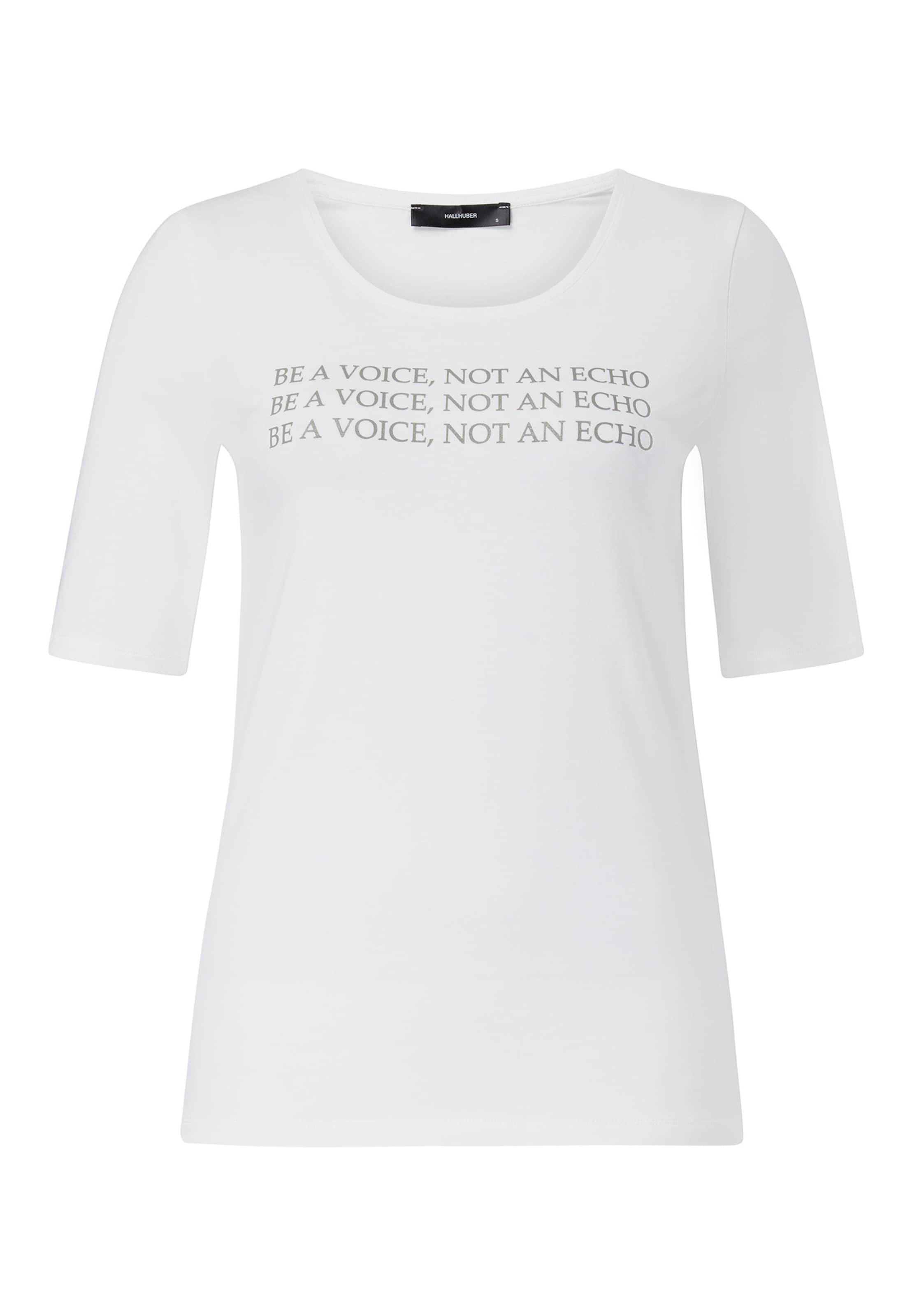 Slogan print In T shirt Mit GrünWeiß Hallhuber 2D9IWEYH