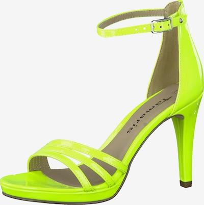 TAMARIS Sandale in neongelb, Produktansicht