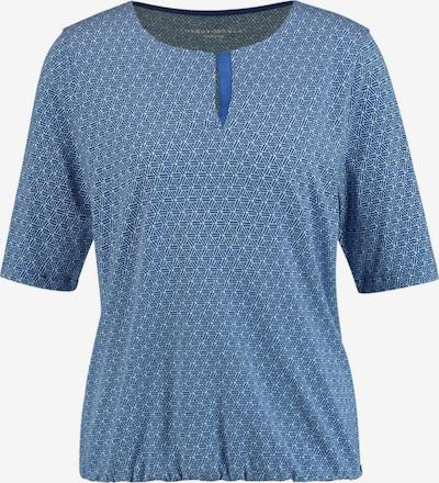 GERRY WEBER T-Shirt 1/2 Arm Shirt mit Minimaldessin in blau, Produktansicht