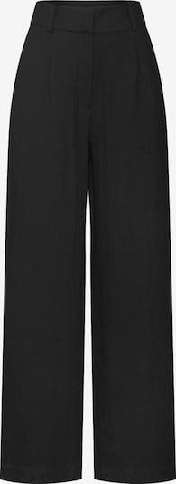 fekete EDITED Élére vasalt nadrágok 'Juna', Termék nézet