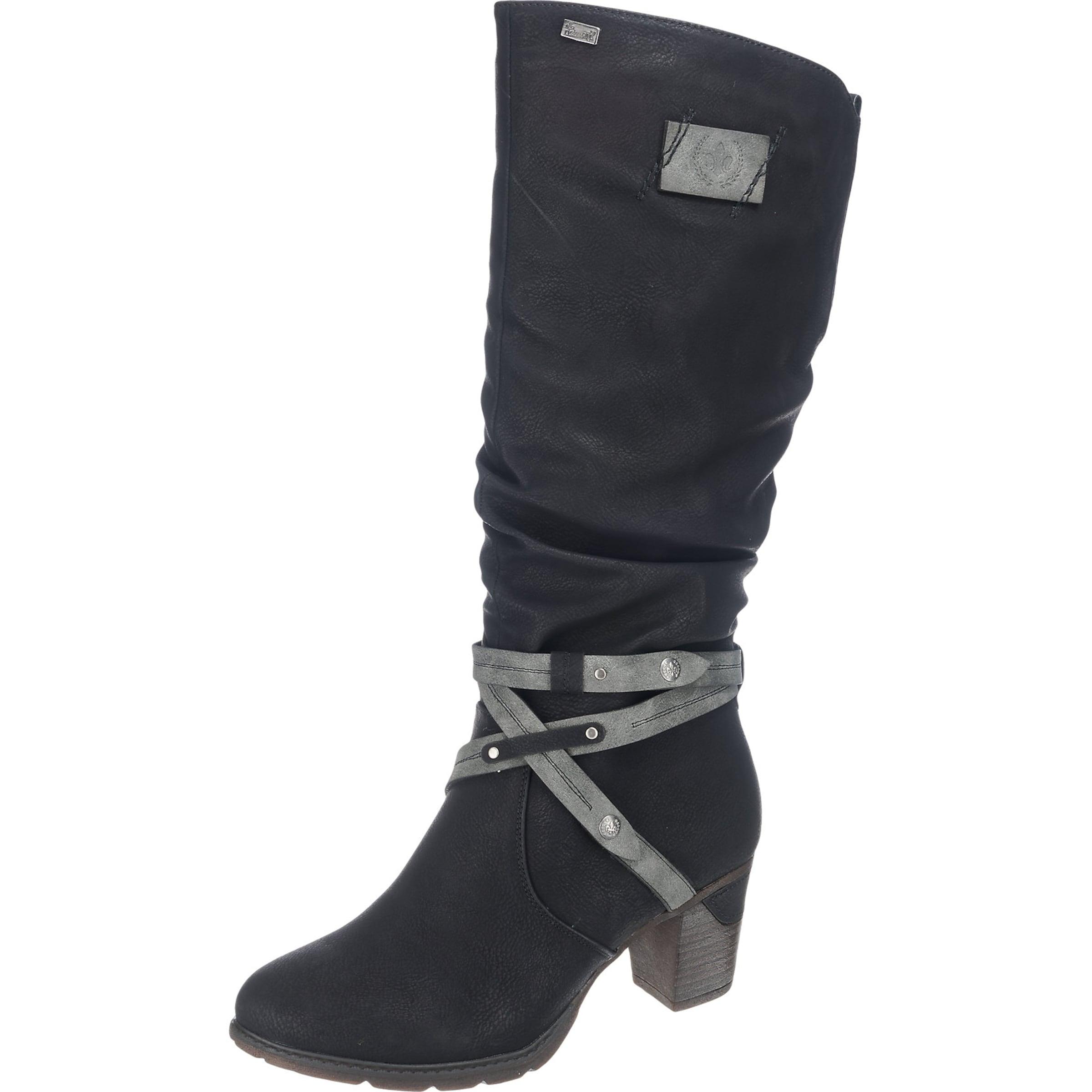RIEKER Stiefel mit Riemen Verschleißfeste billige Schuhe