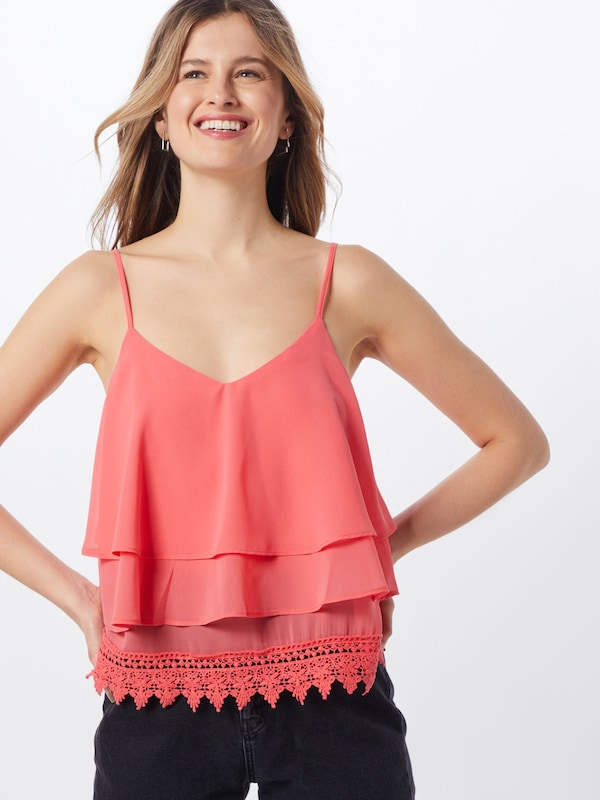 GLAMOROUS Top in rot / orangerot: Frontalansicht