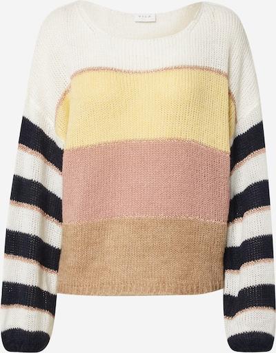 VILA Sweter 'VIPOLANA' w kolorze kremowy / żółty / różowy pudrowym, Podgląd produktu