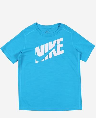 NIKE Funkcionalna majica | modra / bela barva, Prikaz izdelka