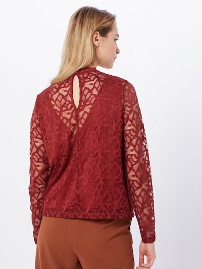 ONLY Koszulka 'ONLDORA L/S LACE TOP JRS' w kolorze ognisto-czerwonym: Widok od tyłu