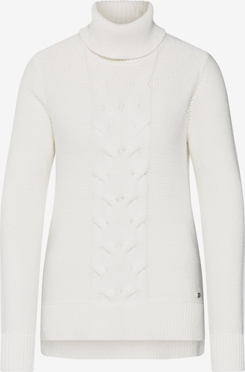 EDC BY ESPRIT Pullover 'cable roll neck' in offwhite, Produktansicht