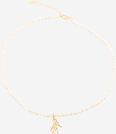 Fräulein Wunder Kette 'Perlen Hand' in gold / perlweiß, Produktansicht