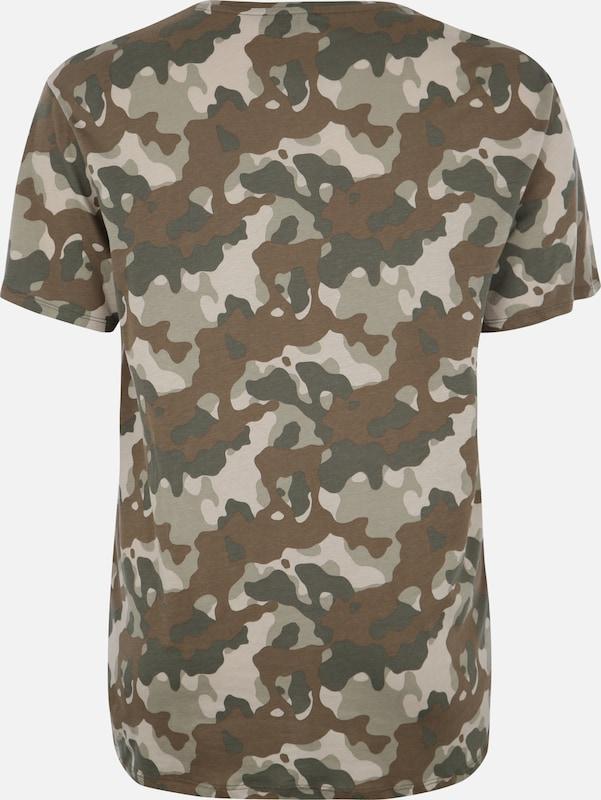 T New Look shirt Camo' Curves 'longline En Vert vn0mN8w