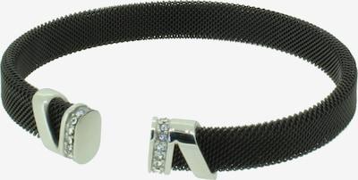 Hanse-Klunker Armreif '110549-19' in schwarz / silber, Produktansicht