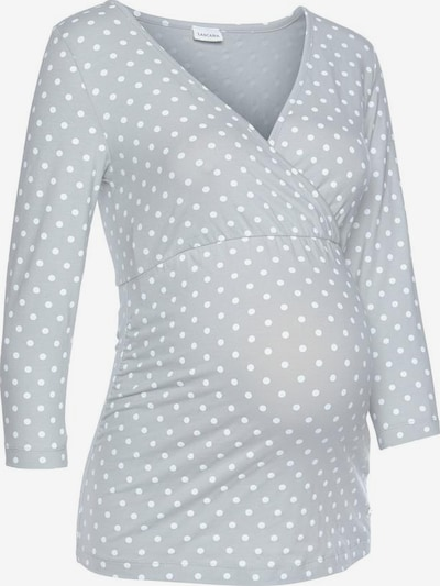 LASCANA Umstandspyjama-Set in grau / weiß, Produktansicht