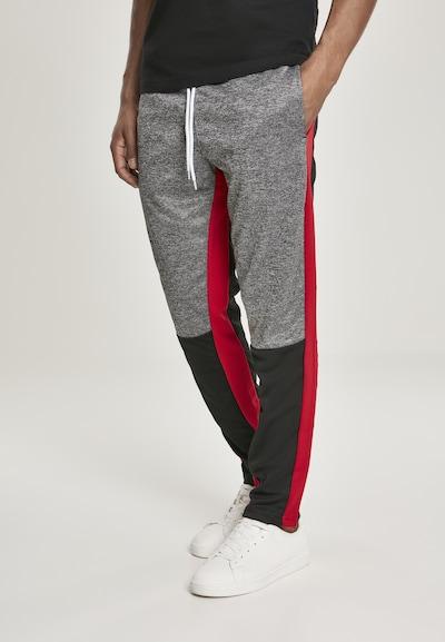 SOUTHPOLE Nohavice 'Marled Track' - sivá melírovaná / červená / čierna, Model/-ka