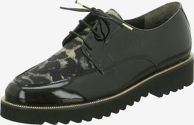 Paul Green Schnürschuhe in beige / schwarz, Produktansicht