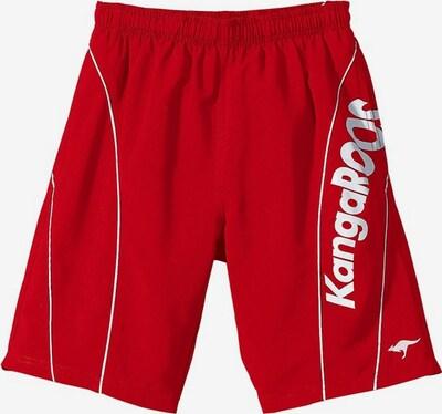 KangaROOS Badeshorts in rot / weiß, Produktansicht
