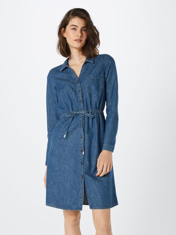 'denim Dress' Denim Edc Esprit Robe En By chemise Bleu QrBCdWoexE