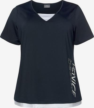 VENICE BEACH Funktions T-Shirt in marine / weiß: Frontalansicht