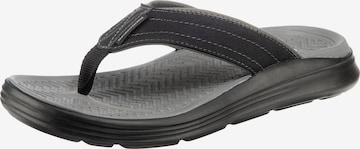 SKECHERS T-Bar Sandals 'Sargo Reyon' in Black