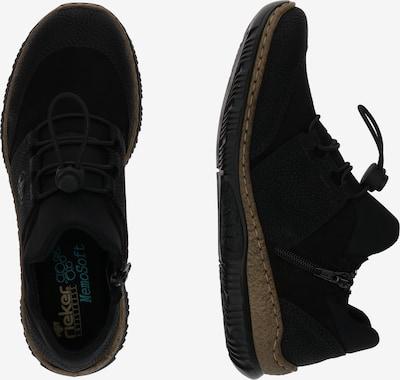 RIEKER Sneakers laag 'N32X8' in de kleur Zwart: Zijaanzicht