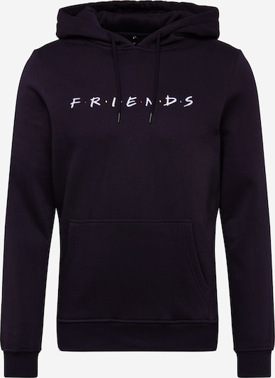 Mister Tee Sweatshirt 'Friends' in de kleur Zwart / Wit, Productweergave