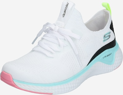 SKECHERS Sneaker 'SOLAR FUSE' in türkis / rosa / schwarz / weiß, Produktansicht