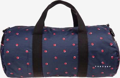 Forvert Tasche 'Bank' in dunkelblau / hellrot, Produktansicht