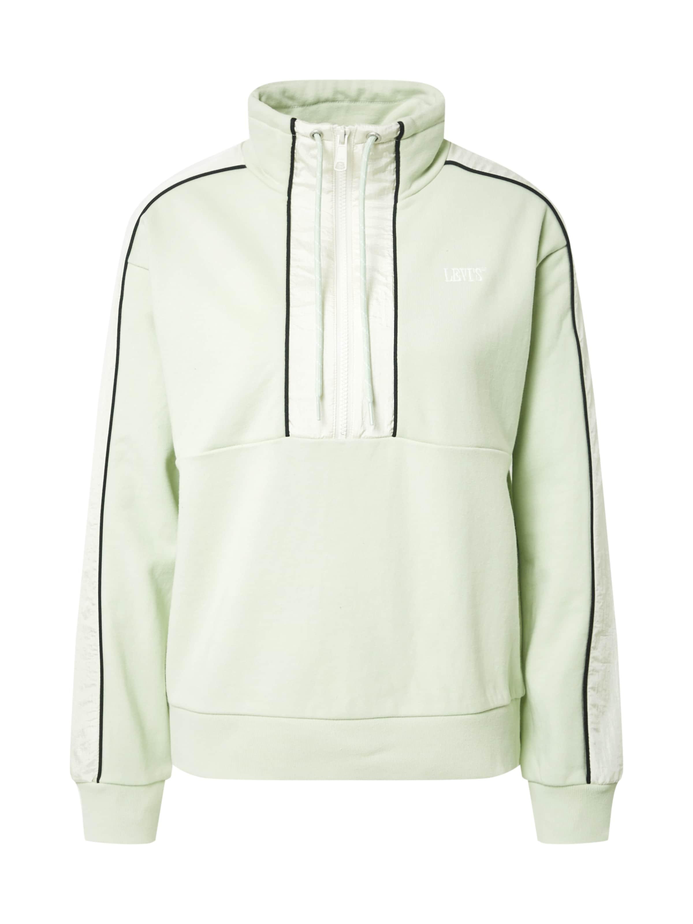 LEVI'S Sweatshirt 'Ginger' in pastellgrün / schwarz