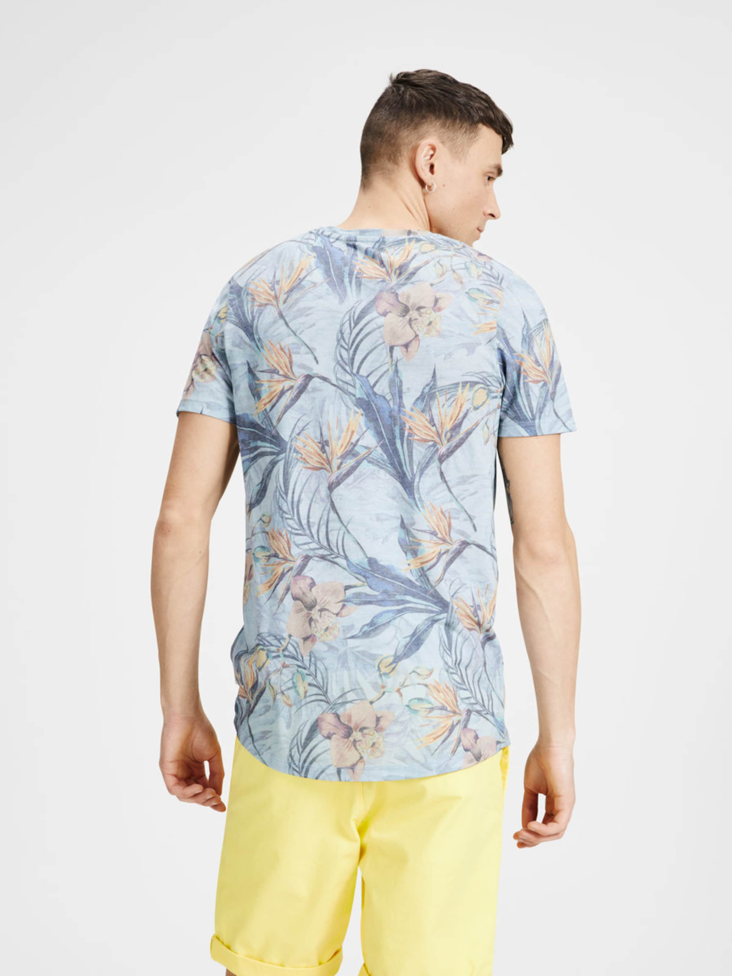 JACK & JONES Botanik-Print T-Shirt Angebote Online Spielraum Manchester Großer Verkauf Auf Der Suche Nach ZPvi7ffC