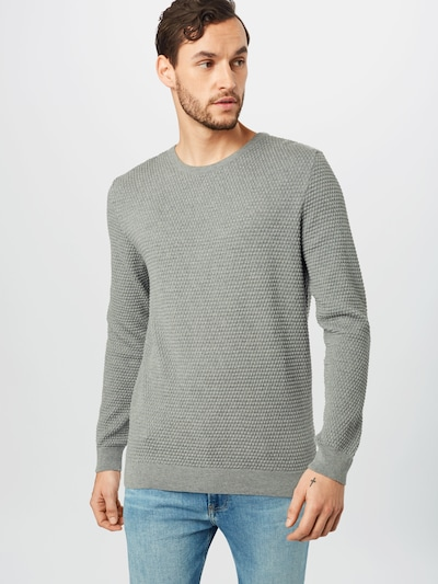 KnowledgeCotton Apparel Pullover 'FIELD' in grau: Frontalansicht